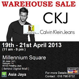 Calvin Klein Jeans Warehouse Sale 2013