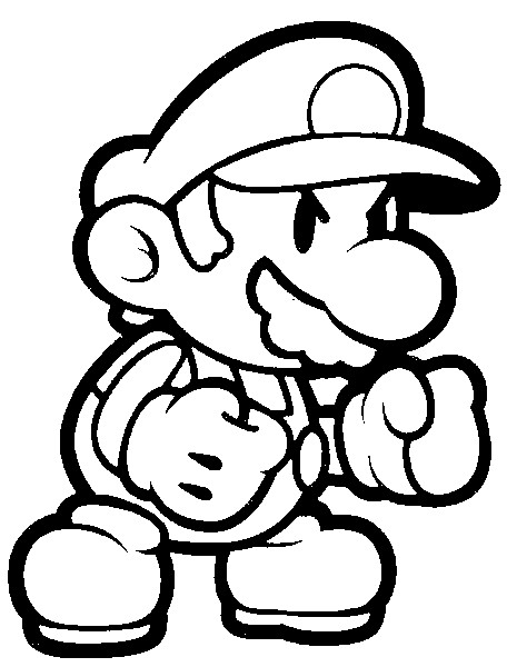mega mario coloring pages - photo#32