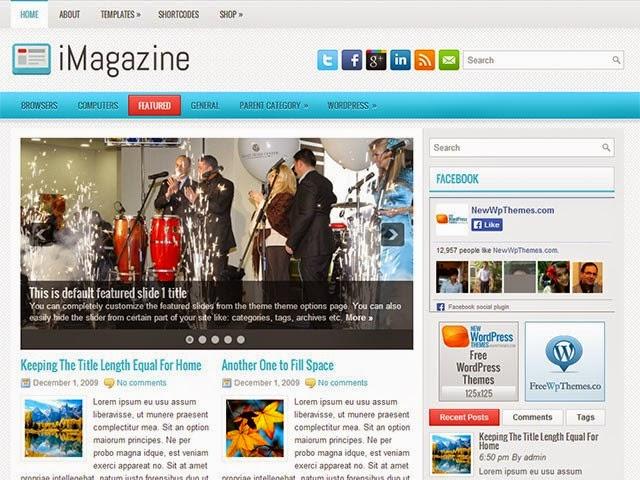 iMagazine - Free Wordpress Theme