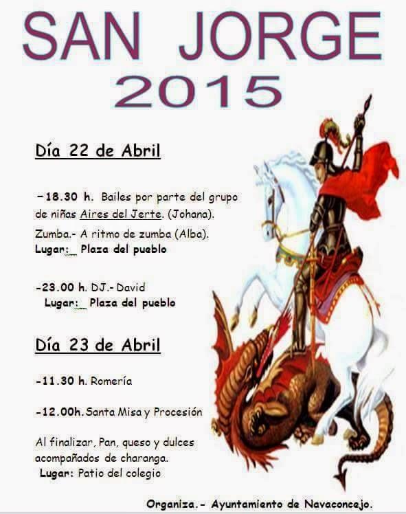 Fiestas de San Jorge 2015. Navaconcejo.