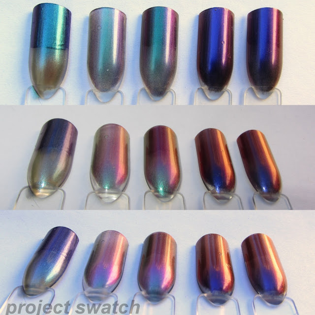 swatches - Model's Own Aqua Violet Beetle Juice, Hits Mari Moon Cutie Pie, Ludurana Show, Hits Mari Moon Dreamer, Ludurana Emocionante