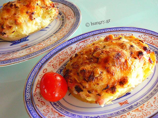 Ham & Cheese Stuffed Potatoes