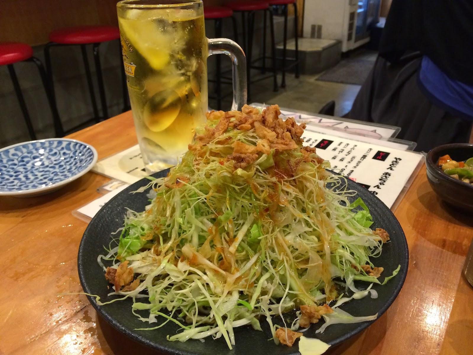 japan Japanese food tokyo izakaya appetizer cabbage