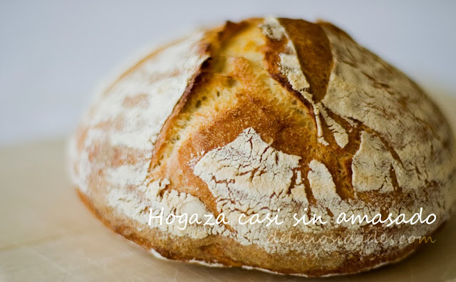 deliciosidades - hogaza de trigo casi sin amasado