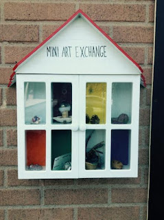 The Mini-Art Exchange with art objects in Sudbury.