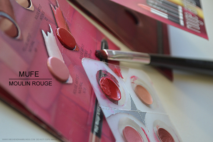 Make Up For Ever MUFE Rouge Artiste Intense Red Lipstick Moulin Rouge 43 Photos Swatches FOTD Indian Darker Skin Beauty Makeup Blog