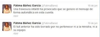 Báñez atribuye el tuit de Bubble Shotter a su hijo