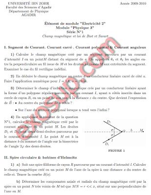 FSA électricité 2 td exams solutions