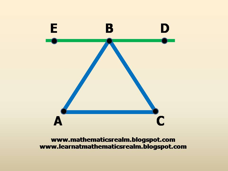 The sum of the angles of a triangle part 2 exploration - Sum of the exterior angles of a triangle ...