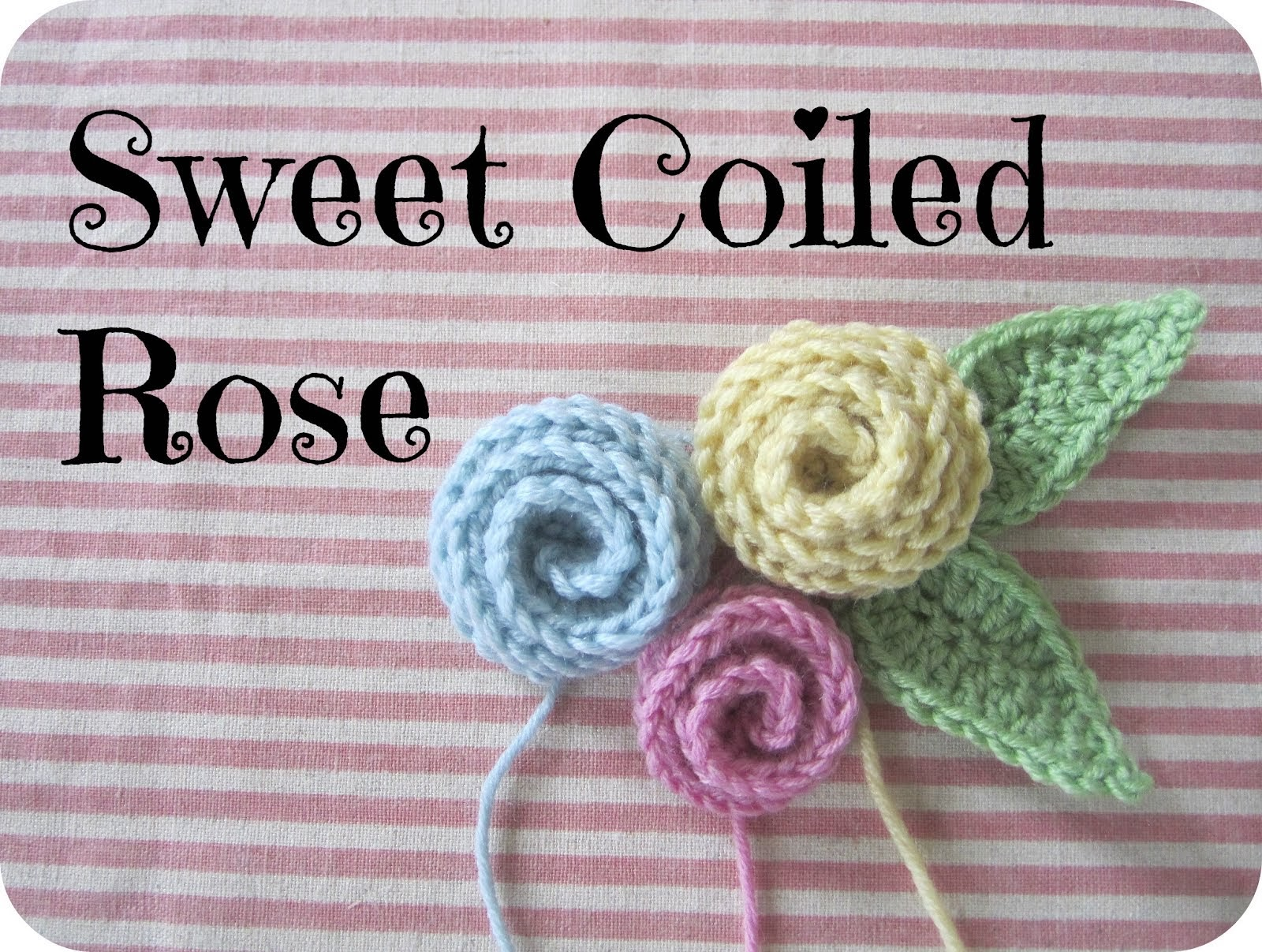 Coiled Rose Crochet Pattern
