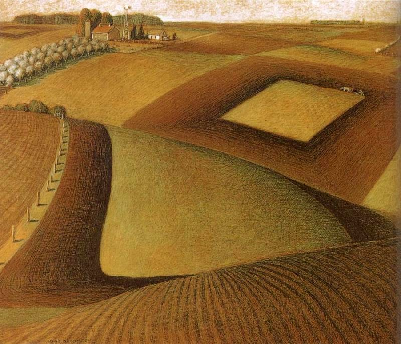 """essay on grant wood """"without atmosphere a painting is nothing"""" this is a quote by dutch painter and etcher there have been several painters who focused on the atmosphere of the locations or spots that they chose to draw on their canvas."""