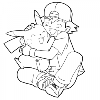 Pokemon Coloring Pages Ash And Pikachu Coloring Pages