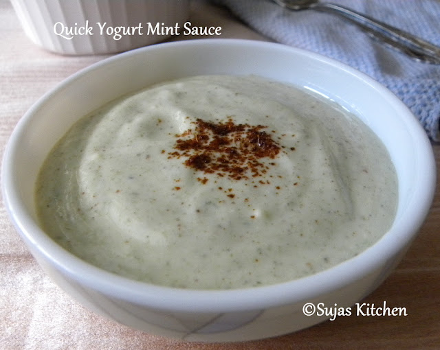 Quick Yogurt Mint Sauce