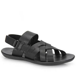 Sandália masculina de couro da Itapuã