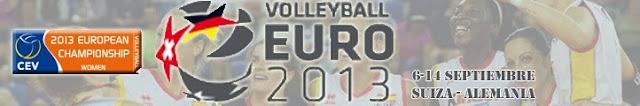 VOLEIBOL-Europeo femenino 2013 (Alemania-Suiza)