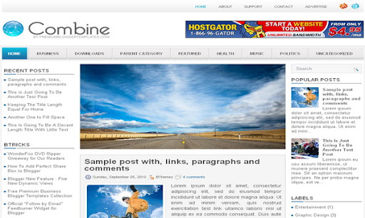 Combine Blogger Template