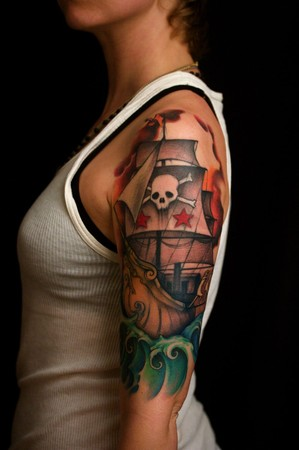 Foot Tatoos on Different Types Of Pirate Ships Tattoos   Ink Your Body