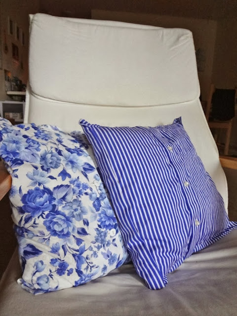 Pillow covers made from shirts