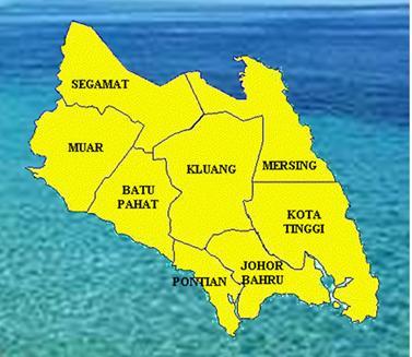 Johor Baru divided into five parts johor town explore