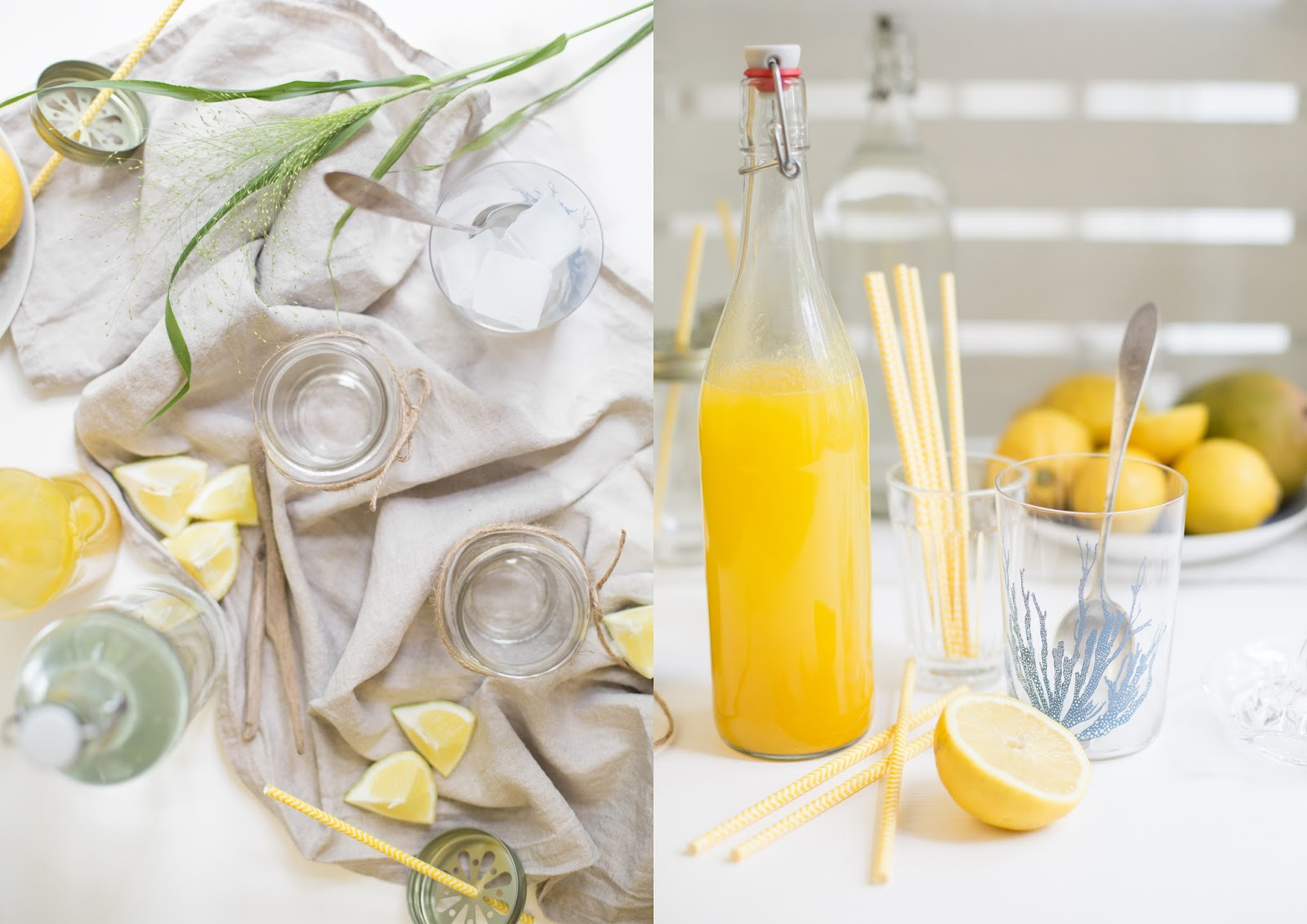 Homemade Mango-Zitronen-Limonade