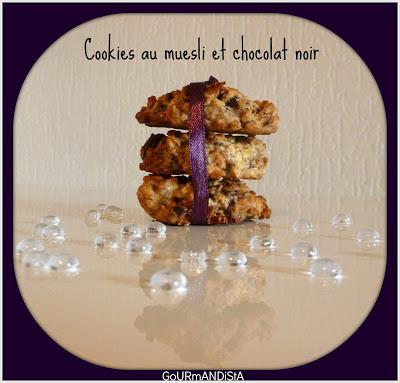 Image Cookies au muesli et chocolat noir