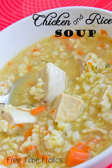 Easy Chicken & Rice soup www.freetimefrolics.com