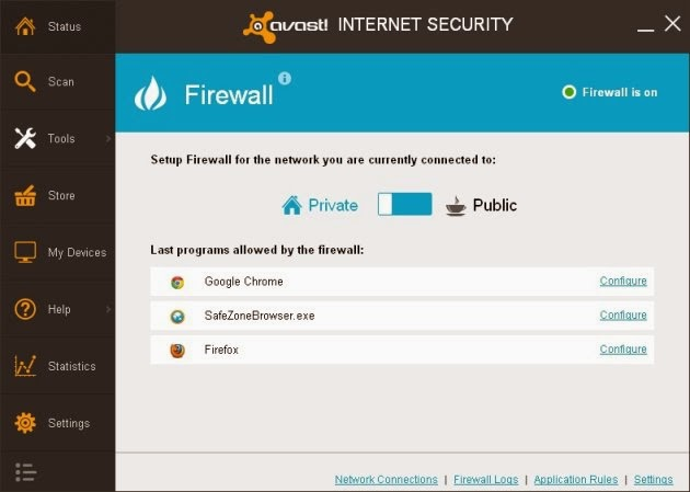 Avast Internet Security 2014 - Firewall