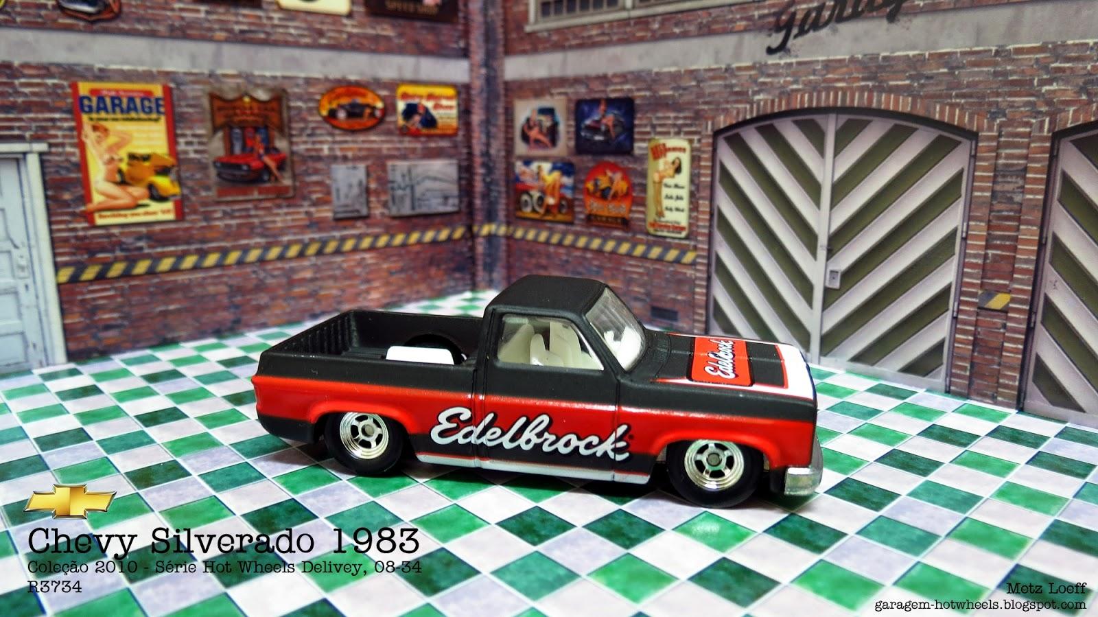 Garagem Hot Wheels Chevy Silverado 1983 C10 Pickup Truck