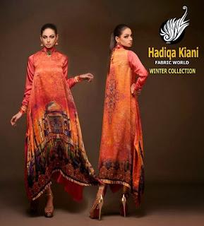 Hadiqa Kiyani Winter dresses 2014 for girls