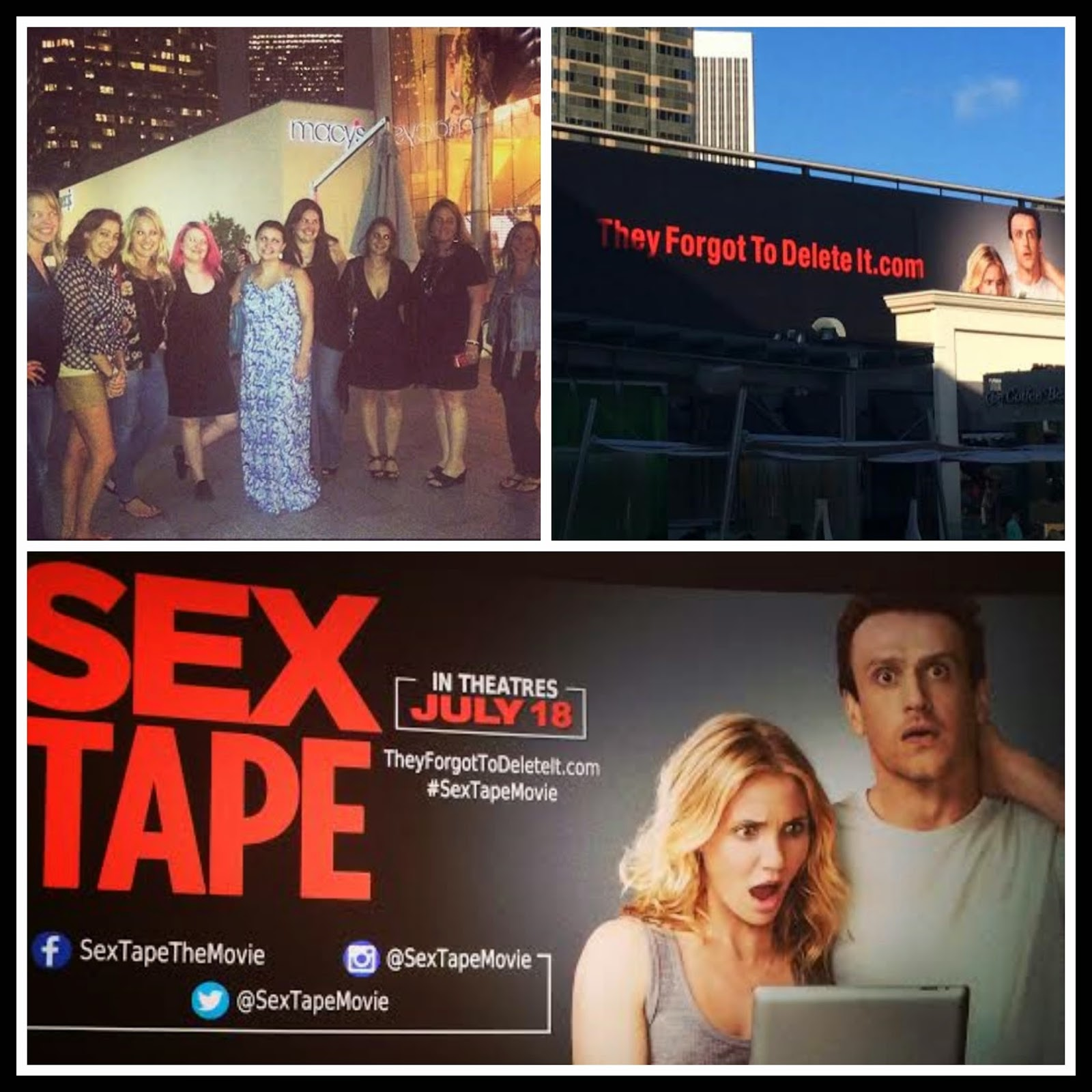 sextapejunkettcollage The Sex Tape Junket  My Trip To LA for the #SexTape Premiere!