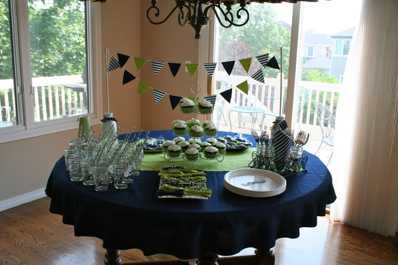 Image Gallery navy blue baby shower