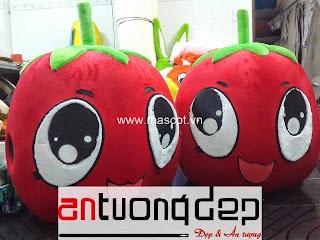 may bán mascot trái cà chua