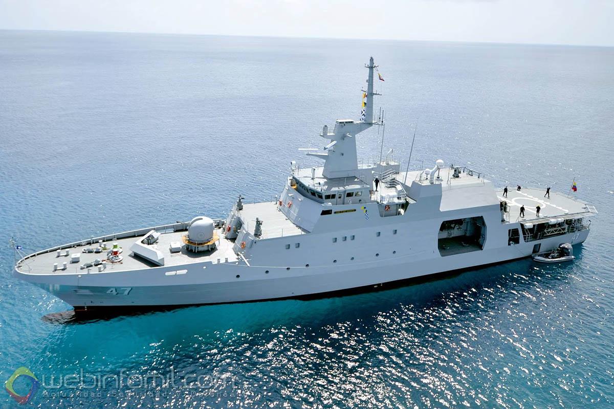 """El patrullero oceánico ARC 7 de Agosto de la Armada de Colombia zarpó de Cartagena, para incorporarse a la operación """"Atalanta"""" y Ocean Shield de lucha contra la piratería en el océano Índico."""