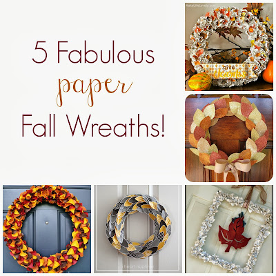 5 Fabulous Paper Fall Wreaths from It's Always Ruetten