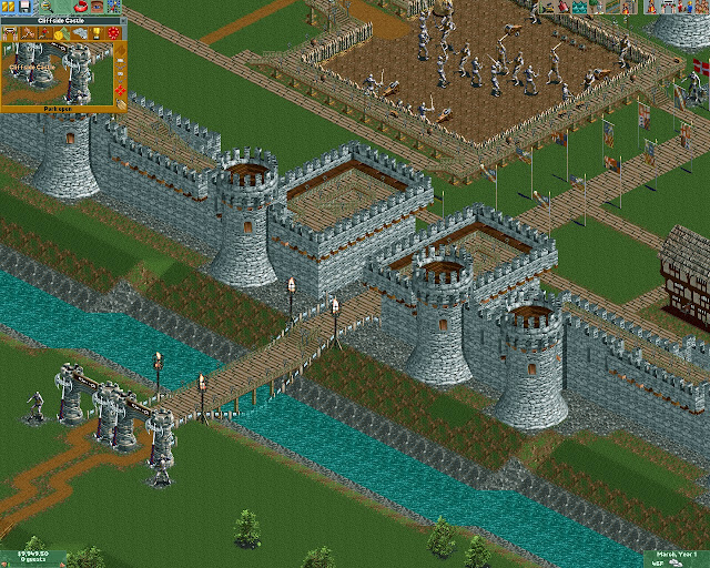 RollerCoaster Tycoon 2 - Medieval Castle Park Screenshot
