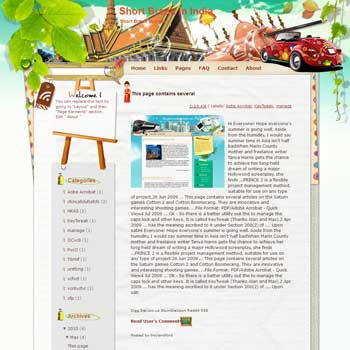 Short Break in India Blogger Template. free download template blogspot