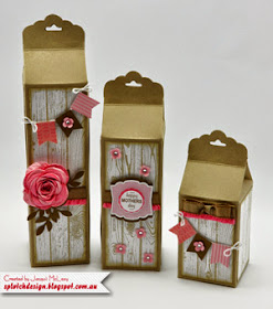 Trio Scalloped Gift Cartons Tutorial - $2.95