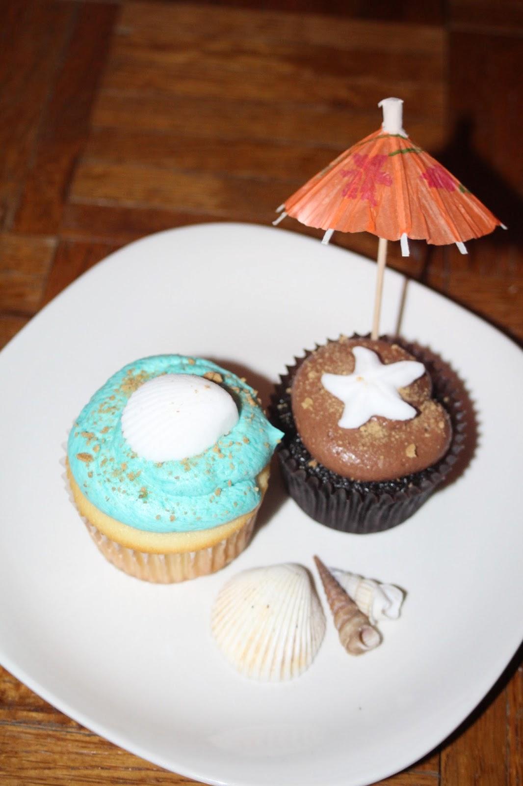 Julie Bakes Beach Themed Bridal Shower Cupcakes