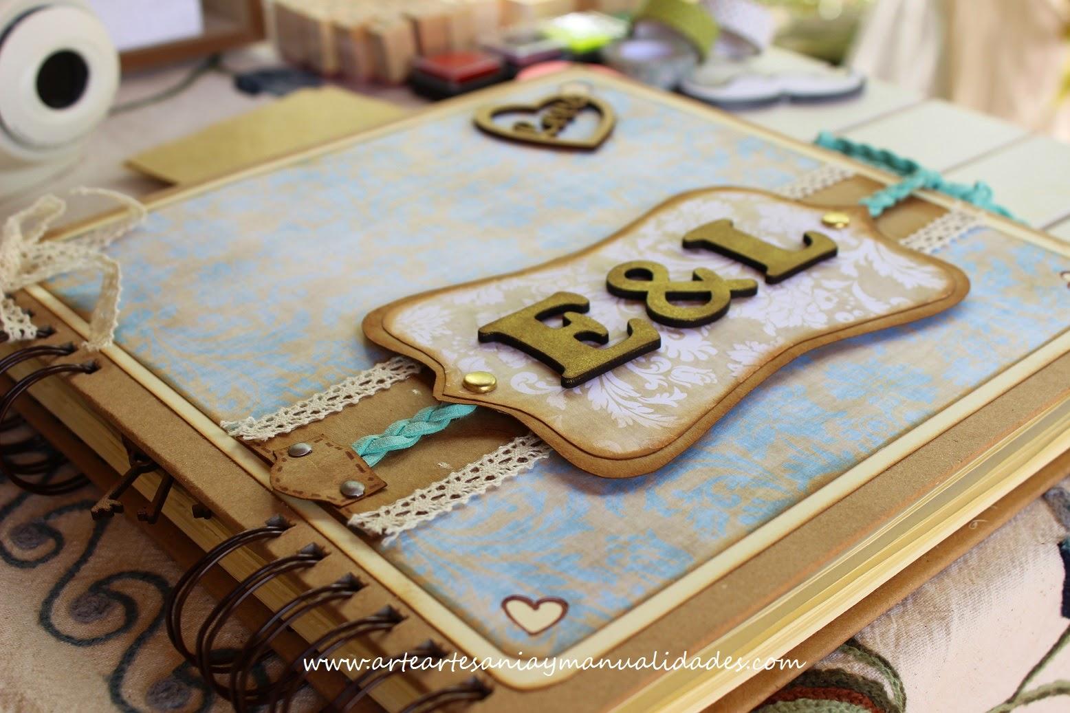 Arte artesania y manualidades libro de firmas y - Decoracion de album de fotos ...