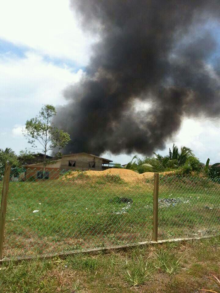 Gambar Kebakaran Di Kampung Baru Pasir Putih Tawau