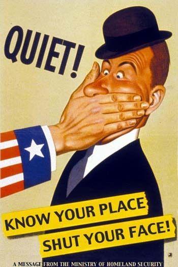 WWII propaganda. Quiet! Know your place shut your face / Молчи! Знай своё место - заткнись!