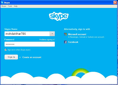 Open Skype on your computer