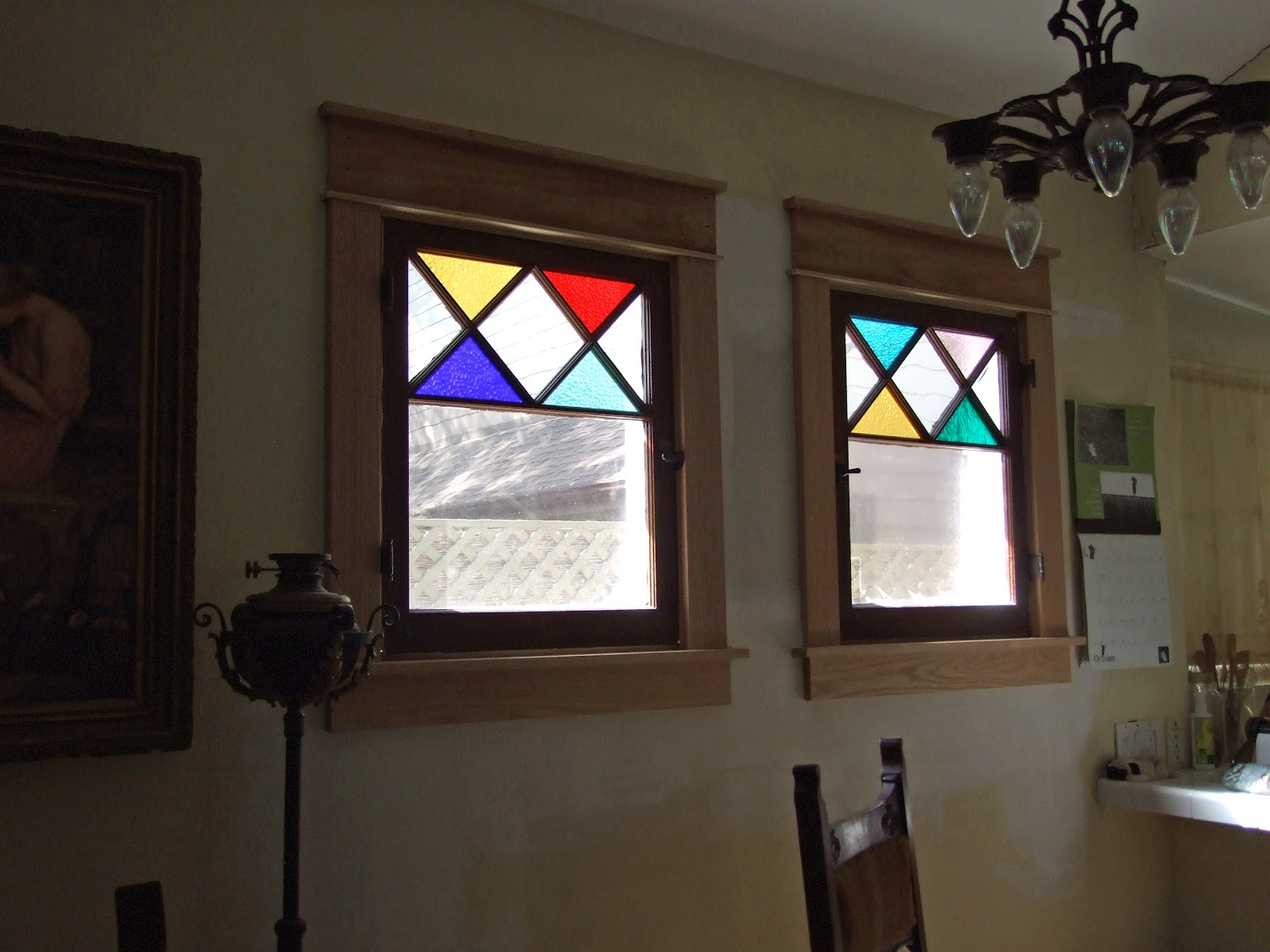 1915 cottage dining room windows in for Dining room windows