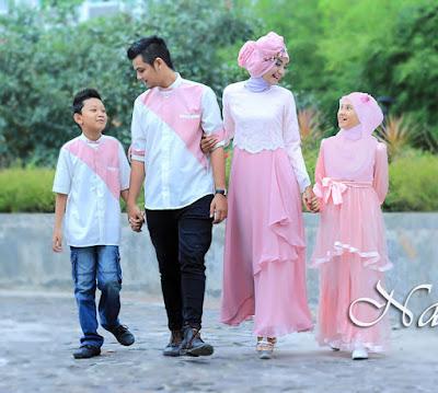 busana muslim seragam keluarga