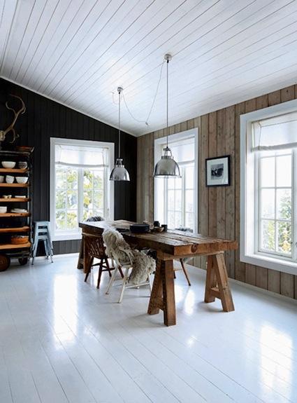 My scandinavian home the rustic norwegian log cabin hide away for Log cabin interiors modern