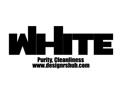 White - Purity, Cleanliness