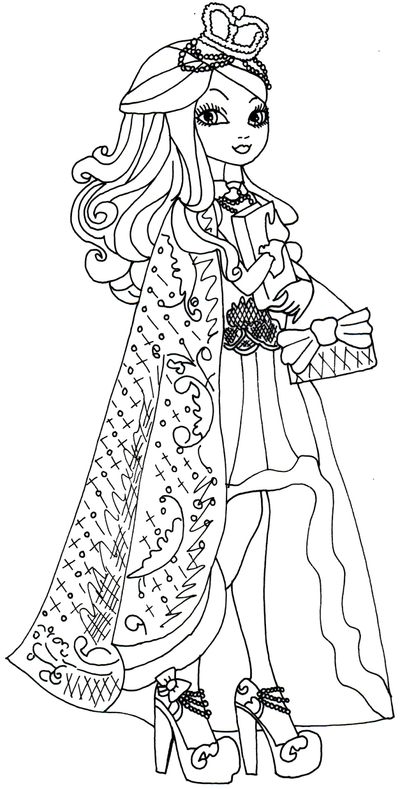 Blog c a cupid ever after high 6 dibujos de ever after - Coloriage prin ...