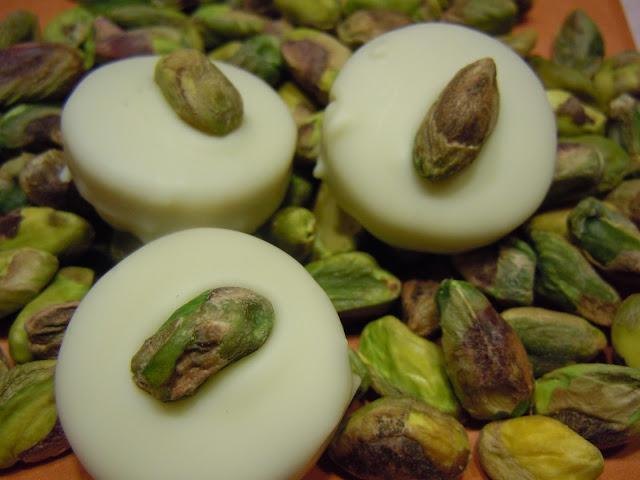 Praline chocolat blanc et pistache