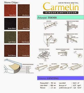 Genteng Metal Carmelin
