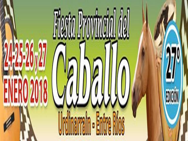 24 al 27 de enero 27° FiestaProvincial del Caballo en Urdinarrain